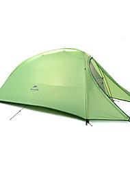 1 Pessoa Tenda Duplo Tenda Dobrada Um Quarto Barraca de acampamento Silicone Dobrável Portátil-Campismo Exterior-Verde