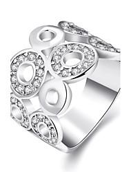 Bague Zircon cubiqueBasique Original Géométrique Amitié Le style mignon euroaméricains Turc Simple Style Classique Imitation de perle