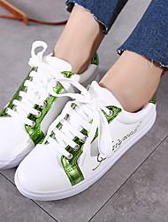Women's Sneakers Spring Comfort PU Casual Flat Heel Split Joint