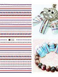1pcs mode style ongle art 3d autocollants personnalité colorée géométrique conception ongle diy beauté décoration f126