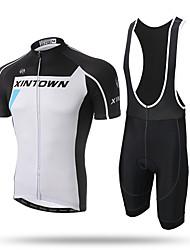 Xintown® гоночный велоспорт велосипед с коротким рукавом одежда набор велосипед мужчины трикотажные трикотажные трикотажные шорты