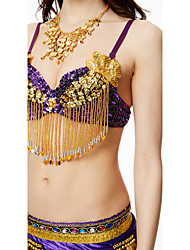 Shall We Belly Dance Tops Women Performance Sequined Sequin Tassel Bra