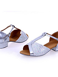 Non Customizable Kids' Dance Shoes Leatherette Lace Sparkling Glitter Paillette SyntheticLeatherette Lace Sparkling Glitter Paillette
