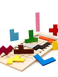 Bausteine Holzpuzzle Für Geschenk Bausteine Spiele & Puzzle Quadratisch 2 bis 4 Jahre 5 bis 7 Jahre 8 bis 13 Jahre Spielzeuge