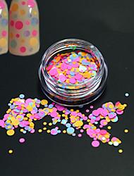 1bottle fashion sweet colorful round slice nail art brillance ronde paillette décoration ongle art diy beauté tranche p31