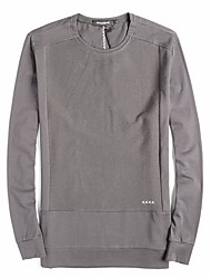 Men's Sports Going out Active Simple Sweatshirt Solid Oversized Round Neck Fleece Lining Micro-elastic Cotton