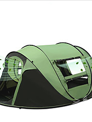 3 a 4 Personas Tienda Solo Carpa para camping Una Habitación Tienda pop up Impermeable Portátil Resistente al Viento Resistente a la