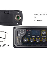 JOYO EQ-MP3 3Band EQ with Tuner and MP3 Player Acoustic Guitar MP3 Equalizer Music Volume Bass Middle Treble Presence Captador