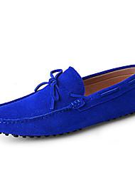 Masculino-Sapatos de Barco-Mocassim-Rasteiro-Azul Marinho Amarelo Terra Vermelho Azul Real Vinho-Camurça-Ar-Livre Escritório & Trabalho