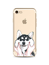 Pour transparent pattern case chien soft tpu pour apple iphone 7 plus 7 iphone 6 plus 6 iphone 5 5c se iphone 4