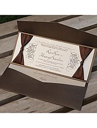 Personnalisé Plis Roulés Invitations de mariage Cartes d'invitation Le style rétro Style moderne Papier Perlé