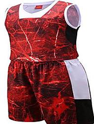Per uomo Maniche corte Pallacanestro Set di vestiti/Completi Pantaloncini Traspirante Comodo Viola Rosso Blu Verde e nero L XL XXL XXXL