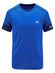 Homme Tee-shirt Escalade Respirable Eté Noir Bleu marine