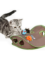 Cat Toy Pet Toys Interactive Mouse Toy Scratch Pad Durable Plastic Fabric