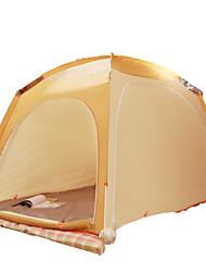 2 Personen Zelt Einzeln Falt-Zelt Einzimmer Camping Zelt 1500-2000 mm Glasfaser PU OxfordFeuchtigkeitsundurchlässig Wasserdicht