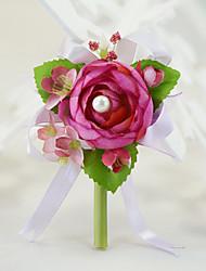 Fleurs de mariage Roses Boutonnières La Fête / soirée Fiançailles Fête de la mariée Soirée / Cocktail Coton Soie