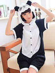 Kigurumi Pijamas Panda Collant/Pijama Macacão Festival/Celebração Pijamas Animais Dia das Bruxas Patchwork Kigurumi Para Unisexo Carnaval