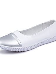 Chaussures de sport pour femmes confort Pu Outdoor Casual Champagne Champagne Black White