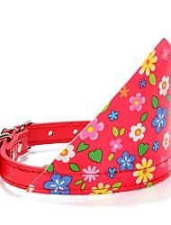 Cão coleira / coleira ajustável / retrátil / respirável / running / segurança / cosplay / soft / casual polka dots preto / rosa tecido /