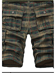Men's Mid Rise Inelastic Shorts Pants,Active Loose Camouflage