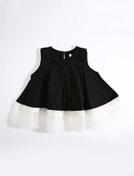 Casual/Daily Solid Blouse,Cotton Summer Short Sleeve