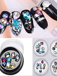1pcl prego arte cor diamante 8 parágrafo uma caixa 4 cores opcionais