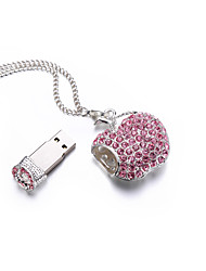 Bracelet en cristal étincelant charme usb flash drive disque flash 16gb