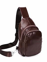 Men PU Casual Sling Shoulder Bags Earth Yellow Brown Pool