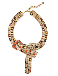 Women's Collar Necklace Geometric Chrome Unique Design Euramerican Gold Jewelry For Casual Christmas Gifts 1pc
