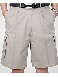 Men's Low Rise Inelastic Shorts Pants,Street chic Straight Solid