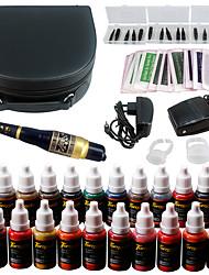 Solong tatouage kit de maquillage permanent tatouage stylo machine à lèvres maquillage machine 23 encres de maquillage ek708-1