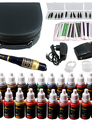 Solong tatuaje maquillaje permanente kit tatuaje pluma ceja labio máquina conjunto 23 maquillaje tintas ek708-1