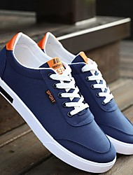 Herren-Sneaker-Lässig-LeinwandLeuchtende Sohlen-Weiß Dunkelblau