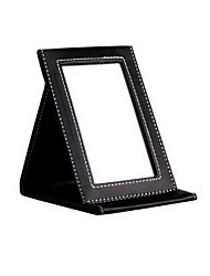 Folding mirror table type mirror pu leather mirror portable mirror
