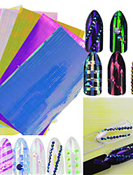 1pcs nouveau mode chaud ongle art diy beauté arc-en-ligne autocollant belle couleur brillant design doux style décoration d'ongle art