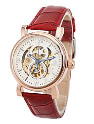 Masculino Relógio de Moda Chinês Quartzo Couro Banda Vermelho