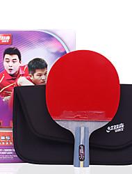 4 étoiles Ping Pang/Tennis de table Raquettes Ping Pang Bois Manche Court Boutons