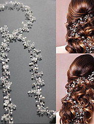Pearl Crystal Headpiece-Wedding Special Occasion Headbands Head Chain Hair Tool 1 Piece