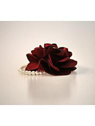 Свадебные цветы Круглый Букетик на запястье Атлас Стразы Около 20 см