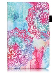 For Samsung Galaxy Tab S2 9.7 Tab E 9.6 Tab  Card Holder Wallet with Stand Flip Pattern Case Full Body Case Flower Hard PU Leather A 9.7 Tab A 10.1