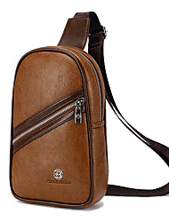 Men Bags All Seasons PU Sling Shoulder Bag with for Casual Sports Outdoor Office & Career Black Brown Khaki