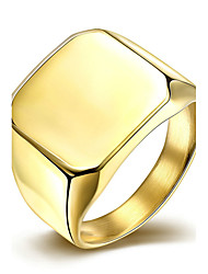 Noble Gold Colour Titanium Steel Square Extravagance Wedding Ring Jewellery for Women Accessiories