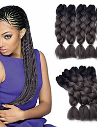 Jumbo Braid Hair Extension 1B/Darkgray Color Kanekalon Fiber for Twist Braiding Hair 500g/pack
