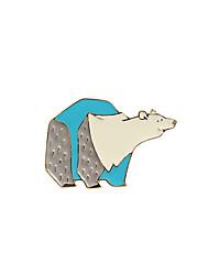 Fashion Trendy Cute Blue Enamel Polar Bear Metal Brooch