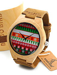 BOBO BIRD Men's Fashion Watch Wristwatch Unique Creative Cool Casual Genuine Leather Band Vintage Luxury Watches Wood Watch
