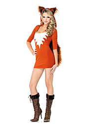 Cosplay Costumes Wizard/Witch Festival/Holiday Halloween Costumes Red Fashion Leotard/Onesie Halloween Female Polyester Terylene