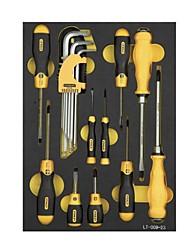 Stanl metric fixação ferramentas manuais 19 peças lt-029-23 allen chave chave de fenda