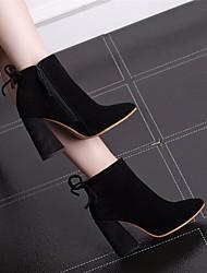 Women's Heels Spring Comfort PU Fabric Casual Brown Black