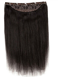 16inch one piece 5 clip in 100% remy human hair extension handmade 120g
