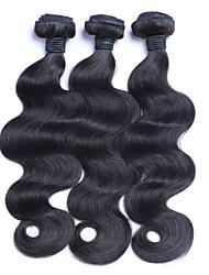 Cabelo Humano Ondulado Cabelo Brasileiro Onda de Corpo 12 meses 3 Peças tece cabelo